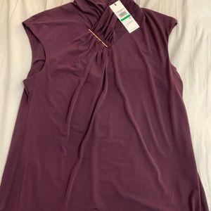 Burgundy blouse